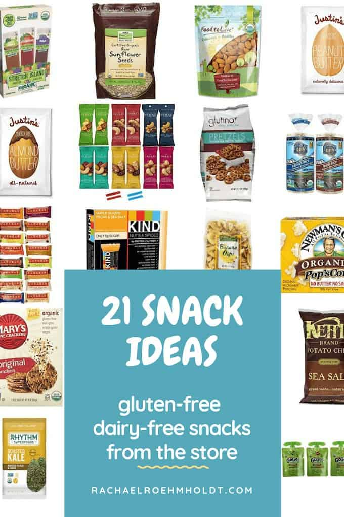21 Snack Ideas - gluten-free dairy-free snacks from the store