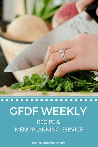 Gluten and Dairy-free menu plans