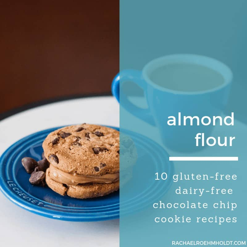 Gluten-free Dairy-free Chocolate Chip Cookie Recipes Made with Almond Flour