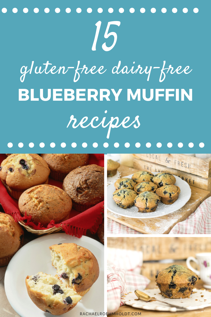 15 gluten-free dairy-free blueberry muffin recipes, including: classic blueberry muffins, vegan blueberry muffins, egg-free blueberry muffins, flourless blueberry muffins, and more!