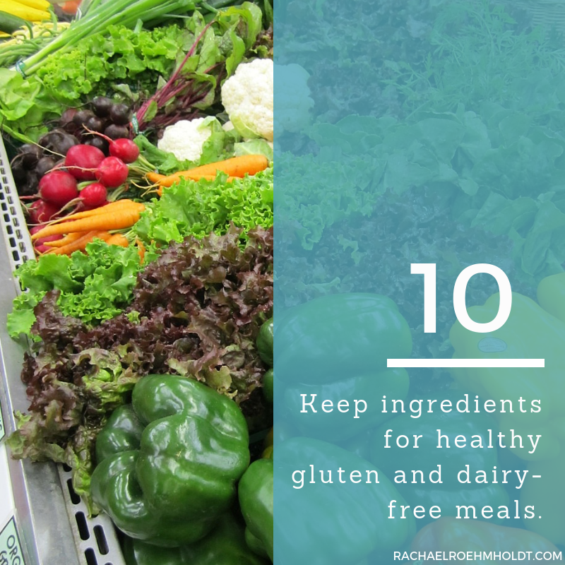 Gluten and Dairy-free Diet: 15 Tips to Stay Healthy // 10. Keep ingredients for healthy gluten and dairy-free meals