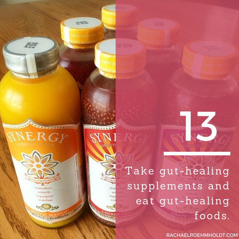 Gluten and Dairy-free Diet: 15 Tips to Stay Healthy // 13. Take gut-healing supplements and eat gut-healing foods