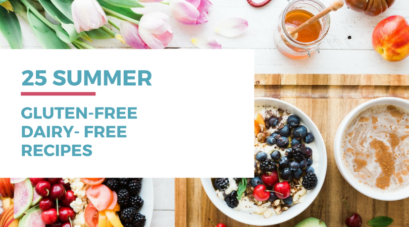 Looking for some summer recipes for your gluten-free dairy-free diet? Check out these 25 awesome recipes by clicking through to read the full post.