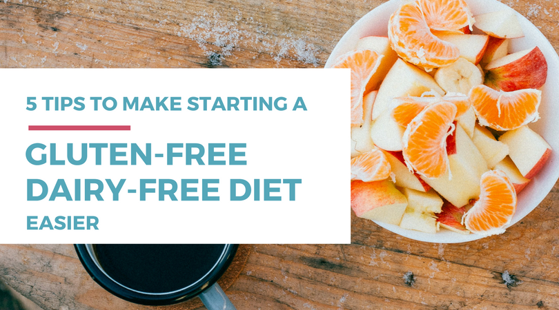 Are you just getting started eating a gluten-free or dairy-free diet? Check out these 5 tips to make the transition easier.