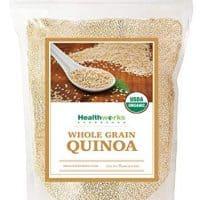 Healthworks Quinoa, Peruvian White Whole Grain Raw Organic, 5lb