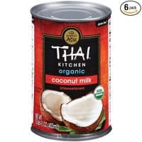 Thai Kitchen Organic Unsweetened Coconut Milk, 13.66 fl oz (Pack of 6)