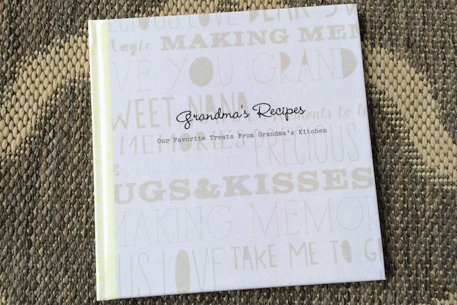 Handmade Holiday Gift Idea Family Recipe Book