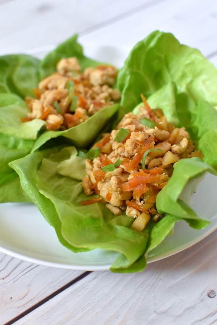 Gluten-free Dairy-free Chicken Lettuce Wraps Recipe