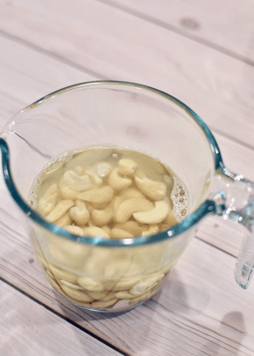 Dairy-free Sour Cream (Vegan) - Soaking the Cashews