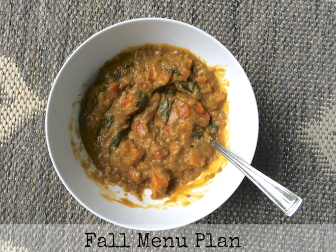 Fall Menu Plan - RachaelRoehmholdt.com