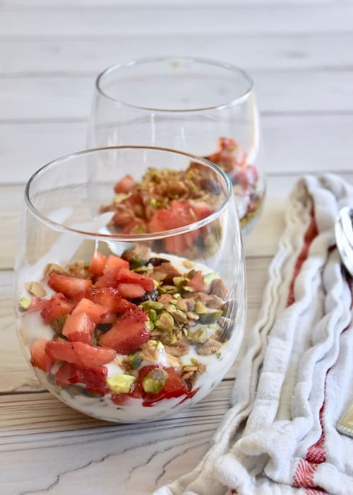 Gluten-free Dairy-free Christmas Yogurt Parfaits