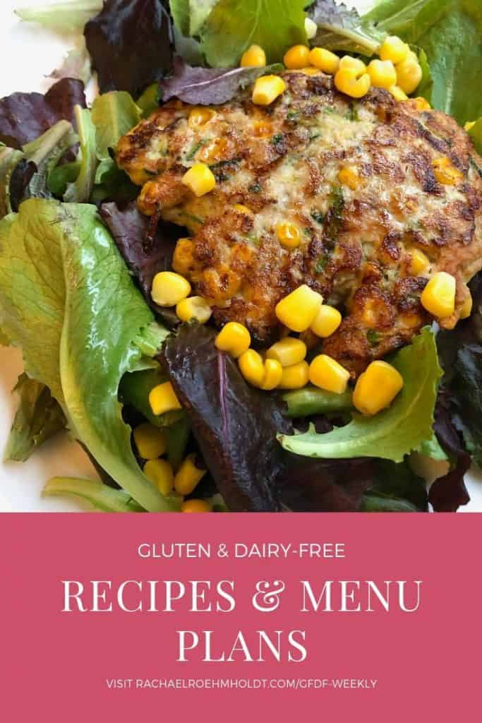 Gluten and dairy-free recipes and menu plans