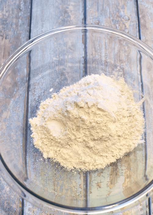 Combine dry ingredients of gluten-free biscuits