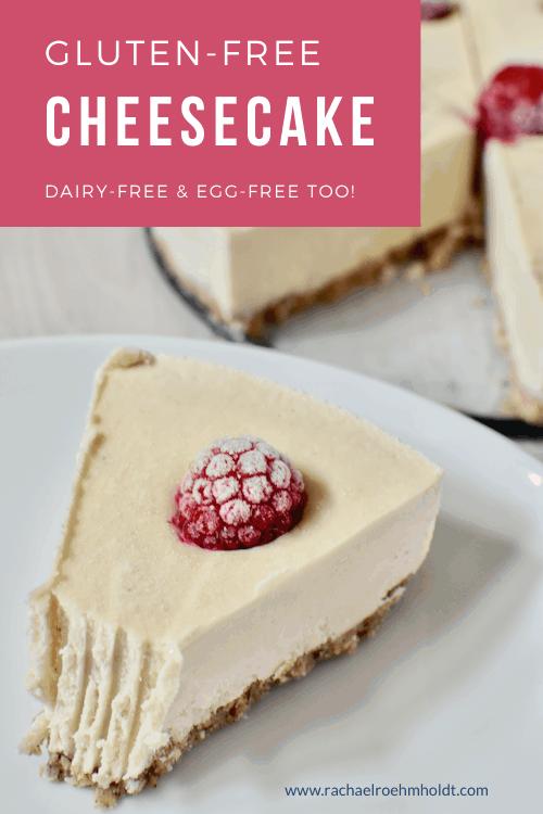 Gluten free Cheesecake Recipe (dairy and egg-free)