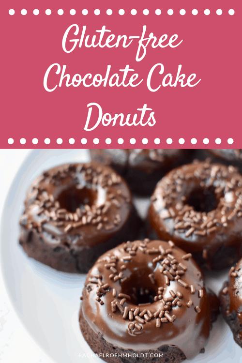 Gluten-free Chocolate Cake Donuts (Dairy-free, Vegan)