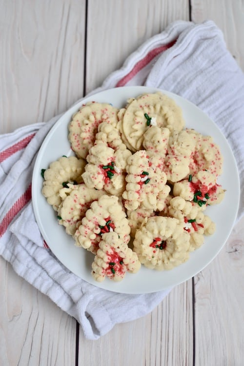Gluten and Dairy-free Spritz Cookies with an Egg-free and Vegan Option