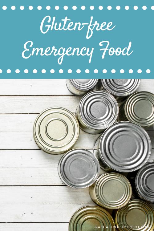Gluten free Emergency Food