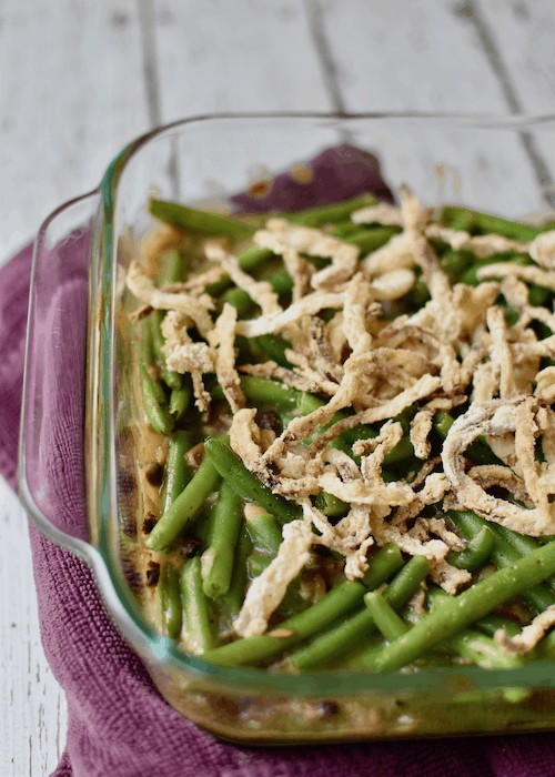 Gluten-free Green Bean Casserole (Dairy-free, Vegan)