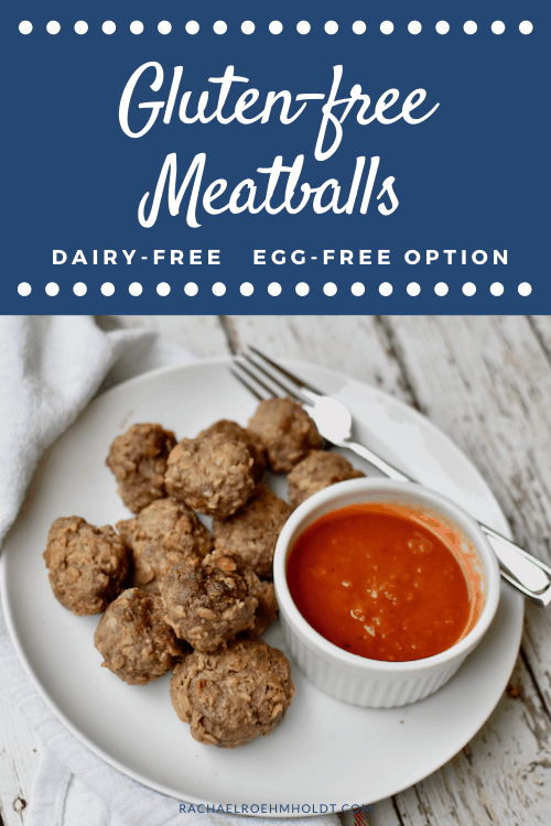Gluten free Meatballs - dairy-free, egg-free option