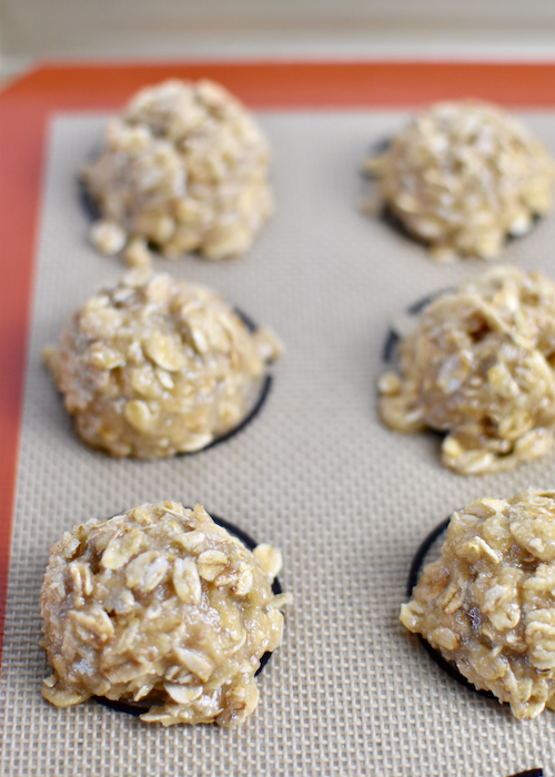 Gluten-free Oatmeal Cookies - Transfer and bake