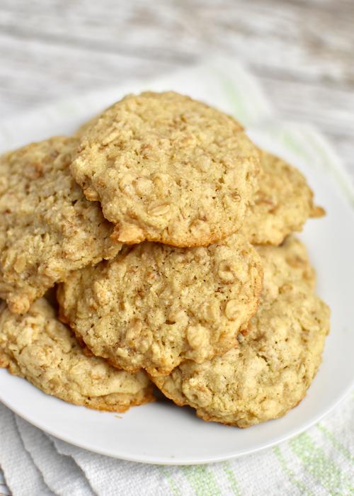 Gluten-free Oatmeal Cookies (dairy-free, egg-free, vegan)
