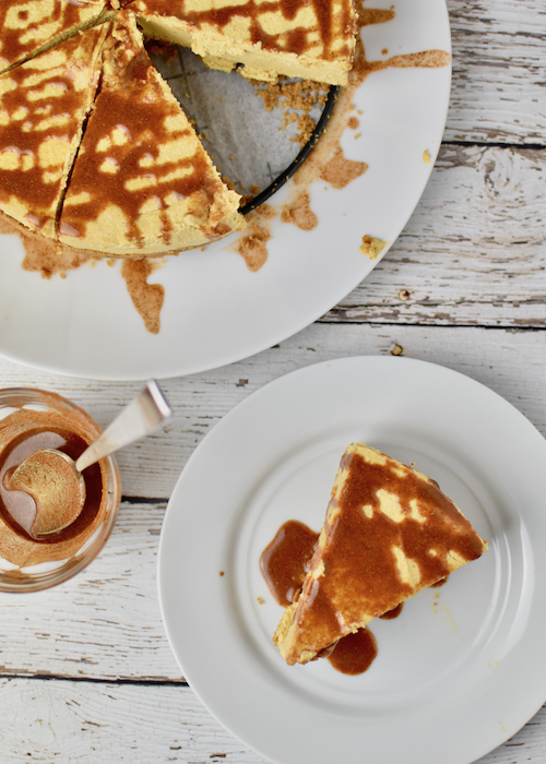 Gluten-free Pumpkin Cheesecake - final cheesecake