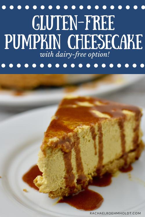 Gluten free Pumpkin Cheesecake - dairy-free