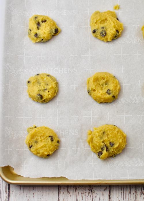 Gluten-free Pumpkin Chocolate Chip Cookies - prepped