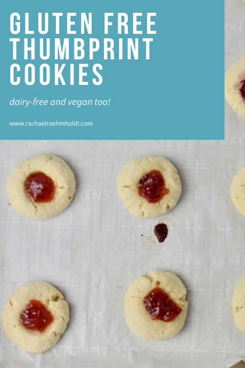 Gluten free Thumbprint Cookies - Dairy-free, Vegan