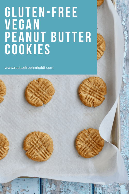 Gluten-free Peanut Butter Cookies: dairy-free, egg-free, vegan