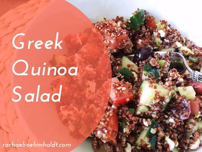 Greek Quinoa Salad | RachaelRoehmholdt.com