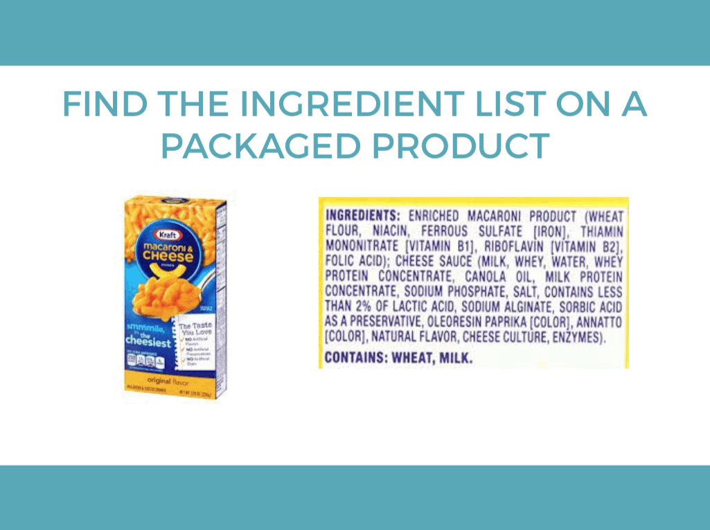 How to Read Ingredient Lists: Find the Ingredient List on the Packaged Product