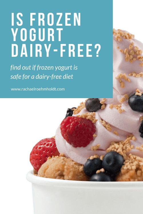 Is Frozen Yogurt Dairy-free?