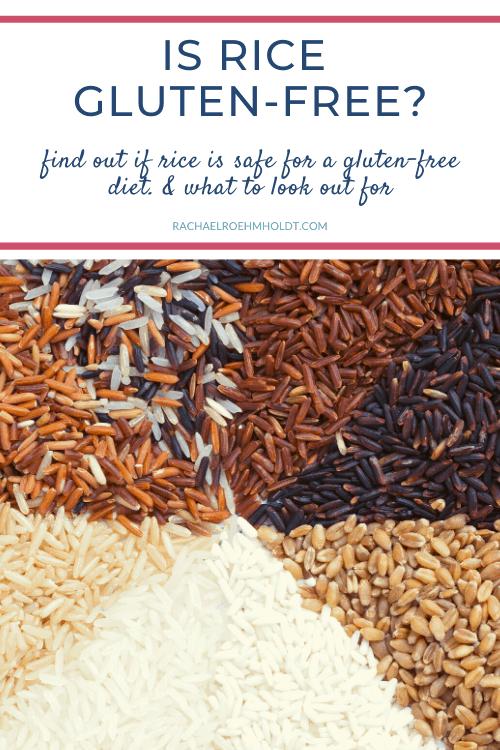 Is rice gluten free?