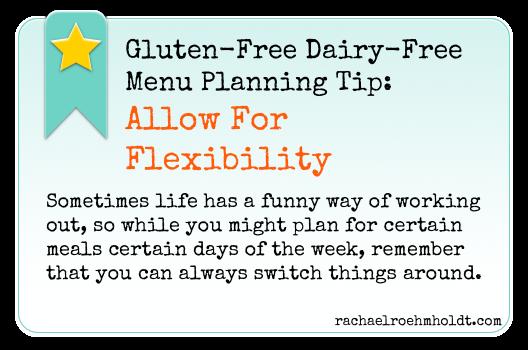 Gluten-Free Dairy-Free Menu Planning Tip | RachaelRoehmholdt.com
