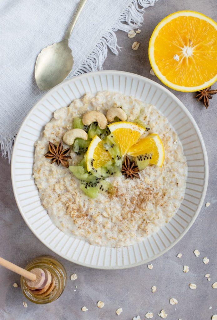 Gluten-free dairy-free breakfast idea: oatmeal
