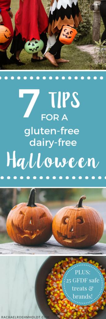 7 Halloween Tips plus a list of safe gluten-free dairy-free Halloween treats