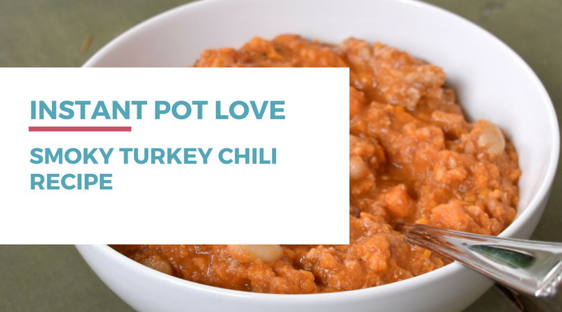 Looking for a tasty and healthy meal that's gluten-free dairy-free and can be made quickly in an Instant Pot? Try this Smoky Turkey Chili.