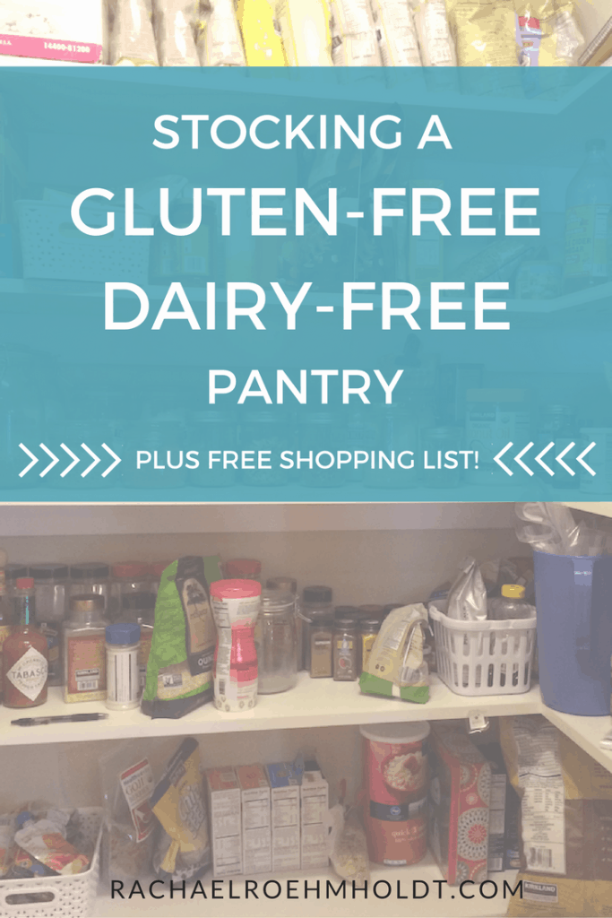 Stocking a pantry for a gluten-free dairy-free diet