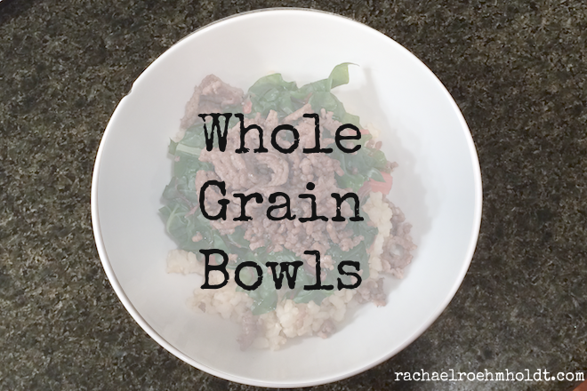 Whole Grain Bowls are gluten-free dairy-free and versatile