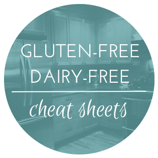 Gluten-free Dairy-free Cheat Sheets from Rachael Roehmholdt