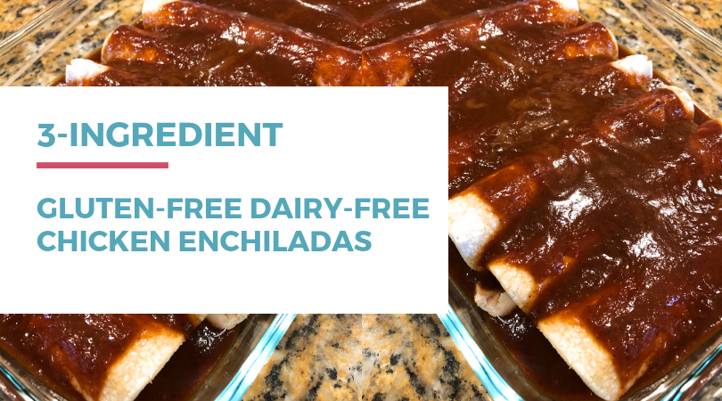 3-ingredient gluten-free dairy-free Chicken Enchiladas