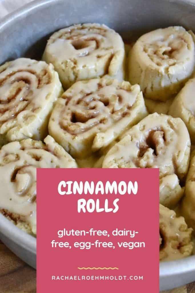 Gluten-free Dairy-free Cinnamon Rolls
