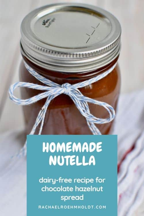 Homemade Nutella: dairy-free recipe