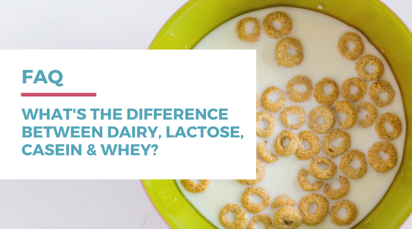 What's the difference between dairy, lactose, casein, and whey? Click through to find out on RachaelRoehmholdt.com