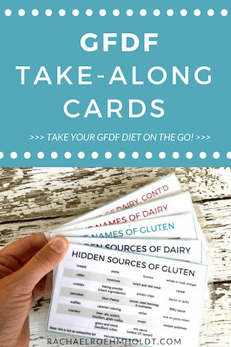 Gluten and Dairy-free Take-Along Cards