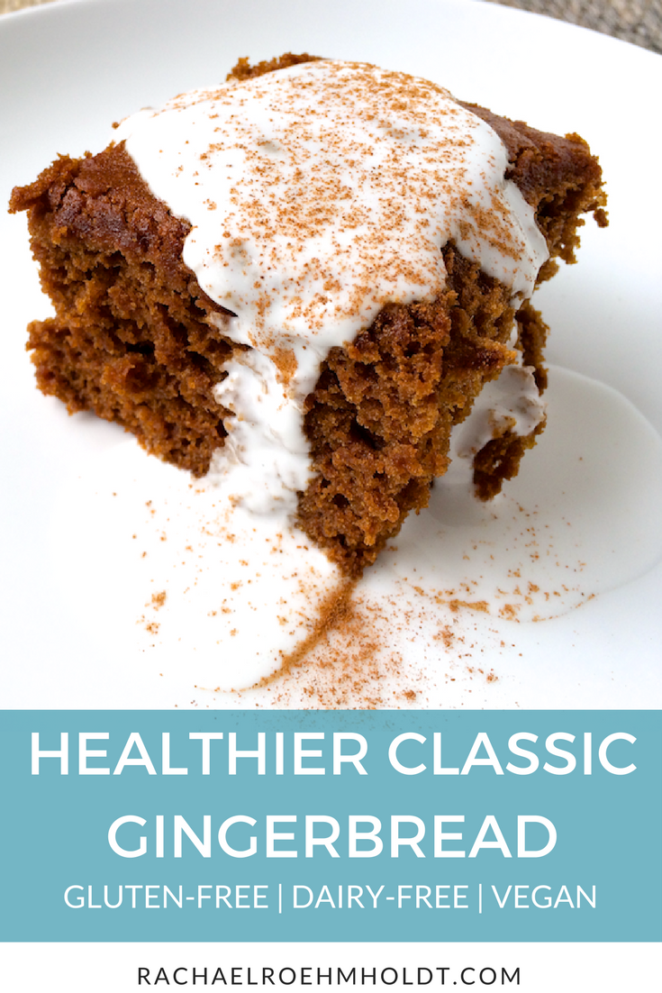 Looking for a healthier version of classic gingerbread? Check out this gluten-free dairy-free vegan take on a classic holiday favorite!