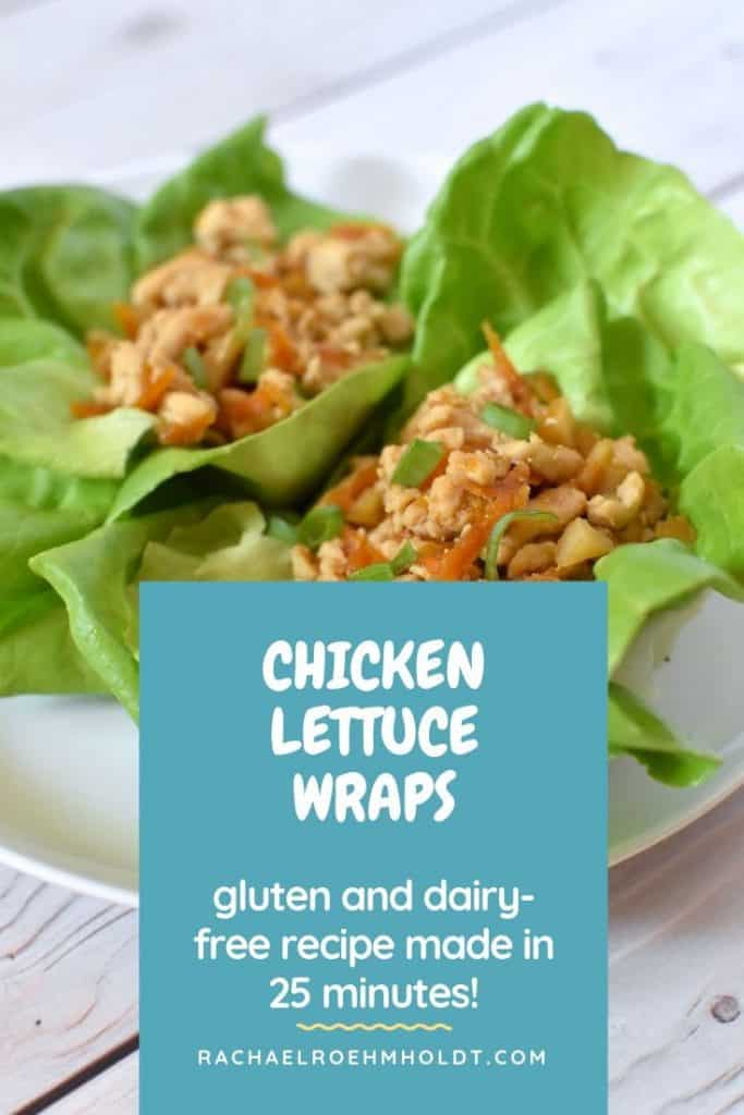 Chicken Lettuce Wraps: gluten and dairy-free recipe