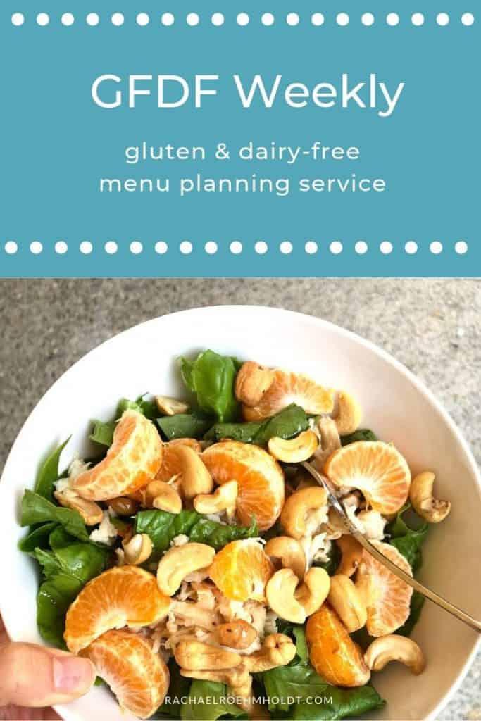 Gluten and dairy-free menu planning service - GFDF Weekly