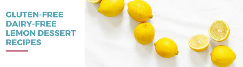 Gluten-free Dairy-free Lemon Dessert Recipes